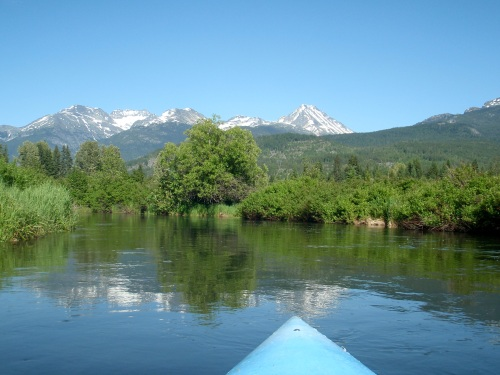 View from my Kayak.  Looking towards the Armchair Glacier and Wedge Mountain.