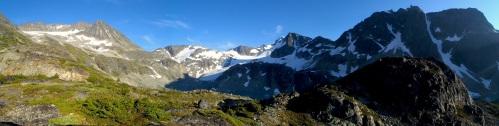 Armchair and Wedgmont peak.