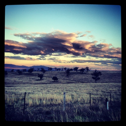 Great skies to run under in Scone, NSW.